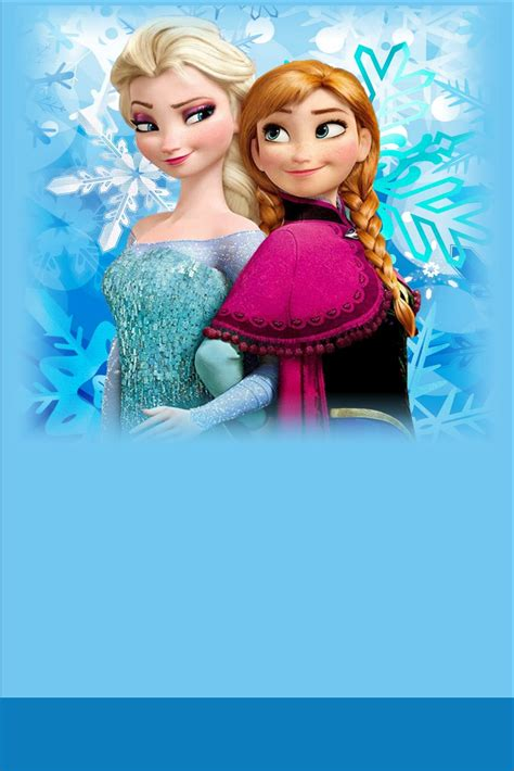 Frozen Elsa and Anna VIP Pass Invitation with Lanyard