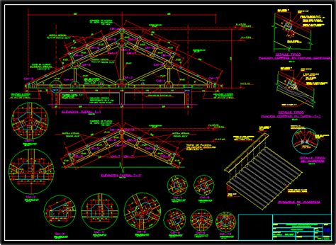 Detail Of Roof Structure Of Wood DWG Detail for AutoCAD