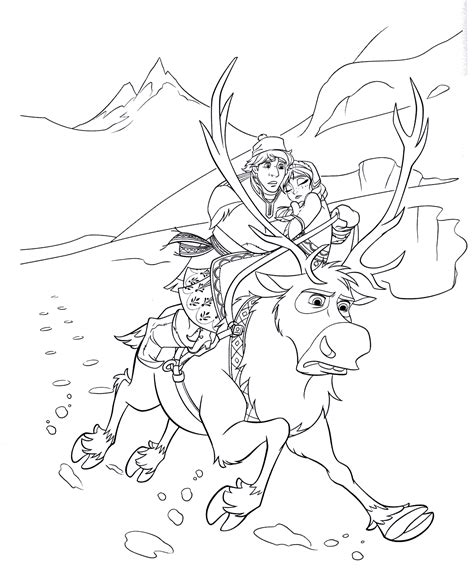 Coloring page - Kristoffs quick movement