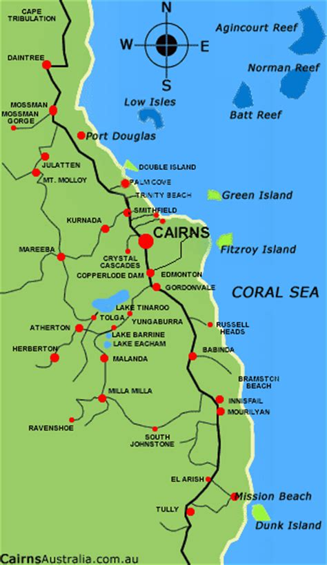 Cairns Map and Cairns Satellite Image