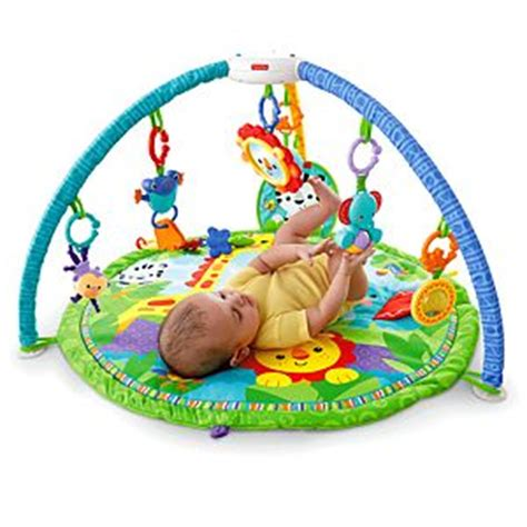 Fisher Price 3 in 1 Deluxe Travel Cot -Rainforest