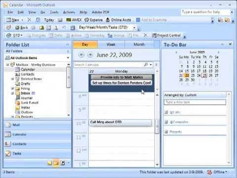 GTD with Outlook 2010 and OneNote 2010 – Overview