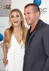 Prison Break's Dominic Purcell introduces new blonde