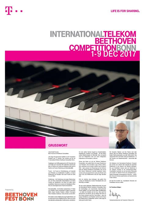 About the International Telekom Beethoven Competition Bonn