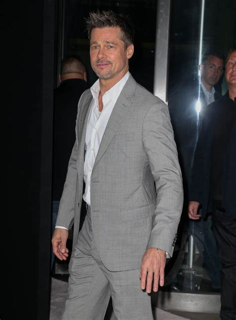 Brad Pitt in well-tailored suit at New York premiere of Okja
