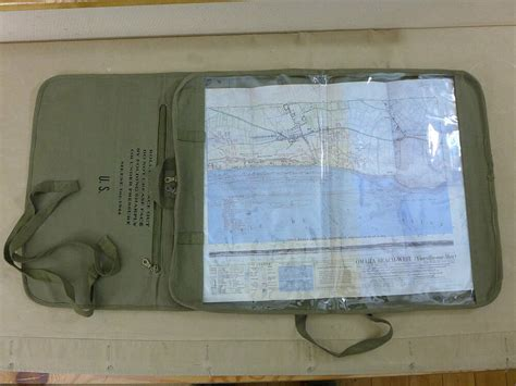 US ARMY WW2 JEEP CANVAS ROLL MAP CASE / ROLL KARTENTASCHE