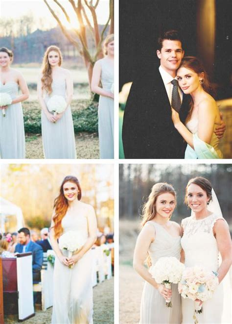Holland Roden at her sister's wedding   Holland Roden