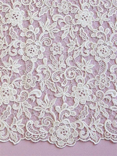 known as filet or Venetian lace, guipure is almost