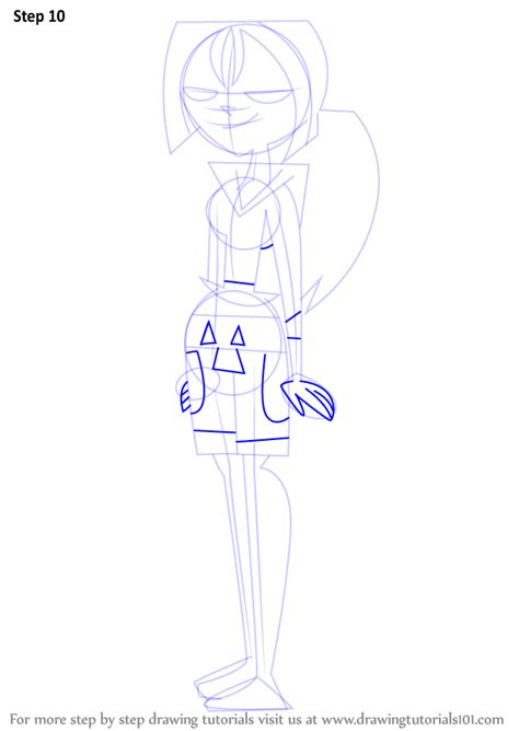 Step by Step How to Draw Bridgette from Total Drama Island