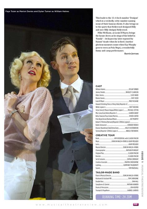 Musical Theatre Review by Simon Howarth - Issuu