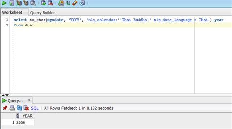 nascent: oracle sql : to_char year thai buddha
