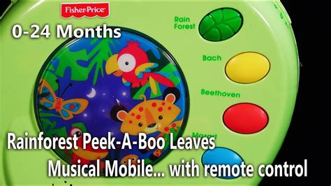 Rainforest Baby Crib Musical Mobile from Fisher Price 0-24