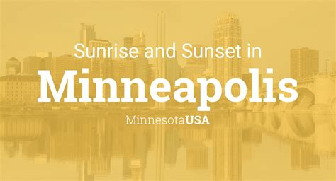 Sunrise and sunset times in Minneapolis, December 2020